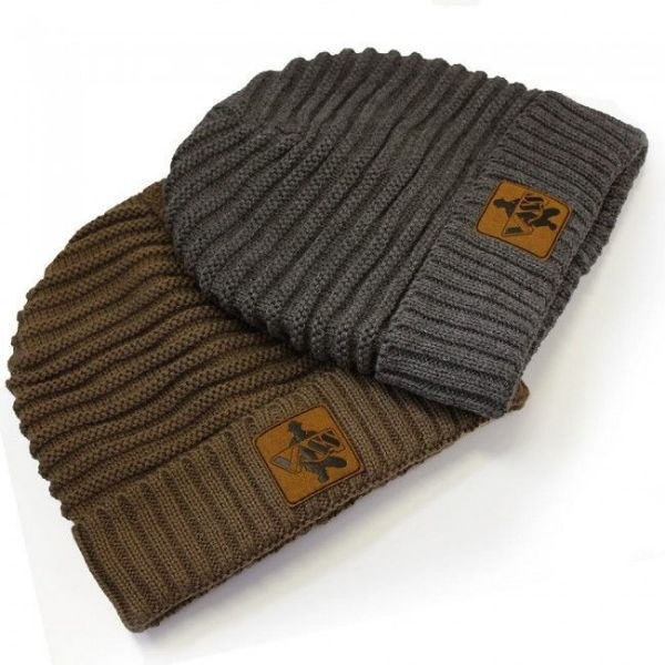 Vass Fleece Lined Ribbed Beanie Grey